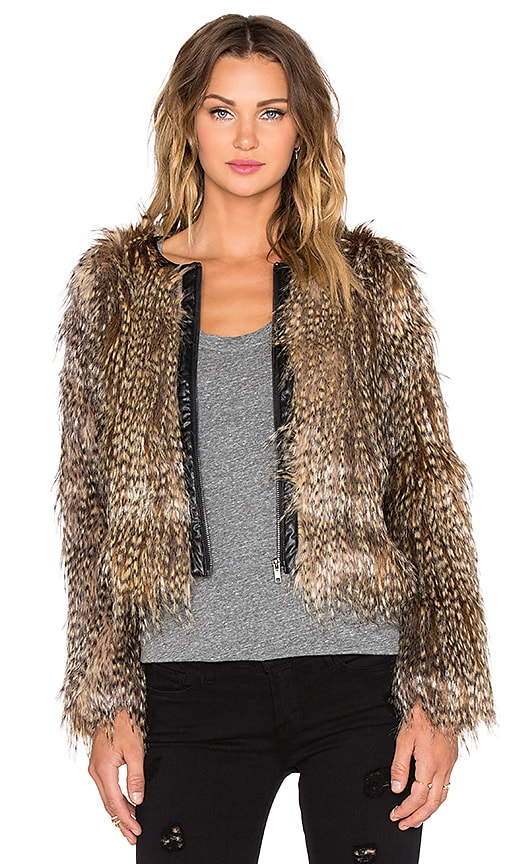 Faux Feather Jacket