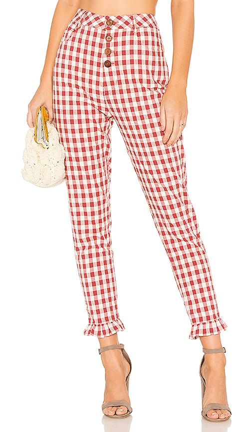 Capulet Etoile Pant in Red