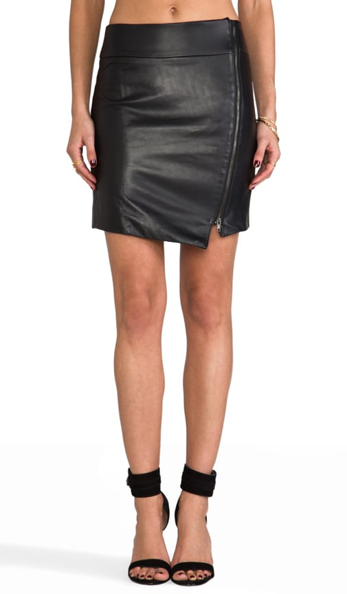 Leather Zip Skirt