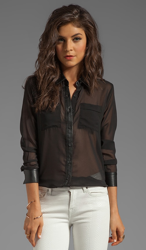 Leather Contrast Shirt