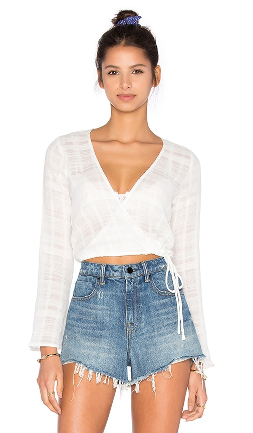 Capulet Cross Front Top in White