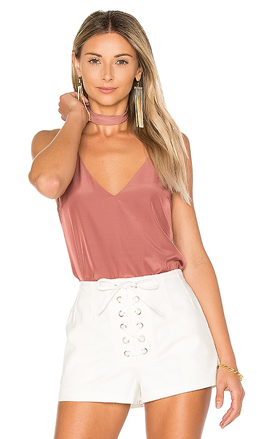 Capulet Flore Camisole with Choker in Rust