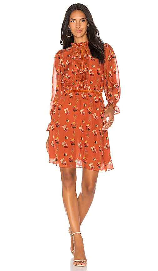 Carolina K Emma Short Dress in Orange