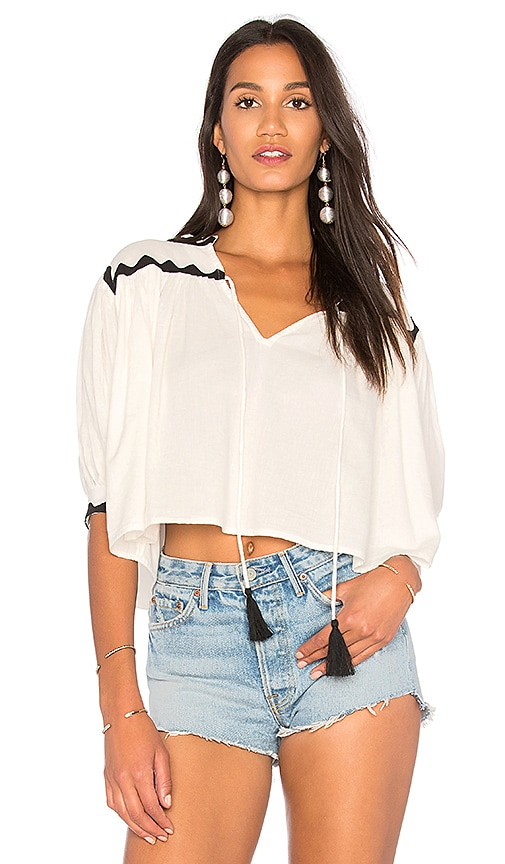 Carolina K Tarahumara Blouse in White