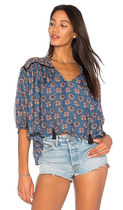 Carolina K Tarahumara Blouse in Blue