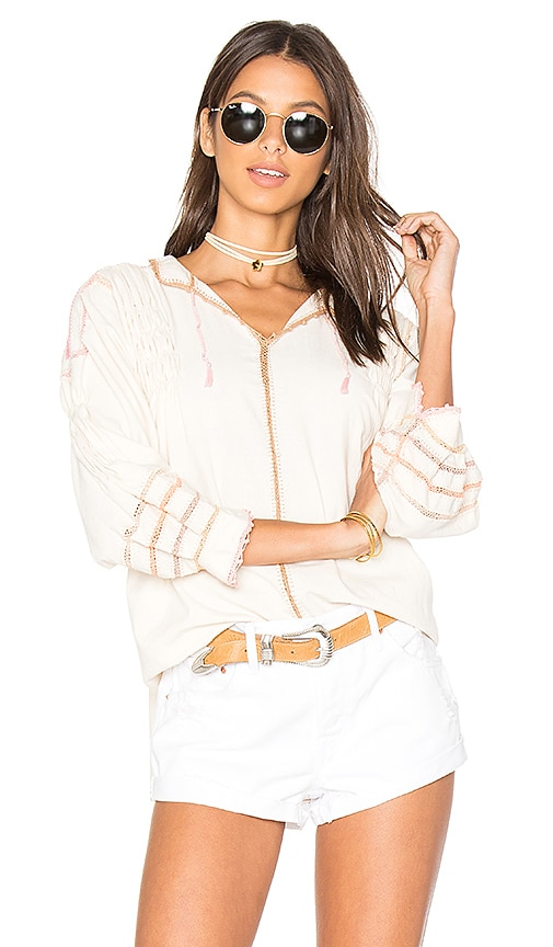 Carolina K Oaxaca Crochet Blouse in White