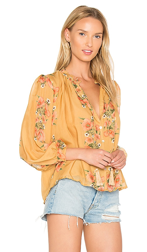 Carolina K Katie Blouse in Yellow