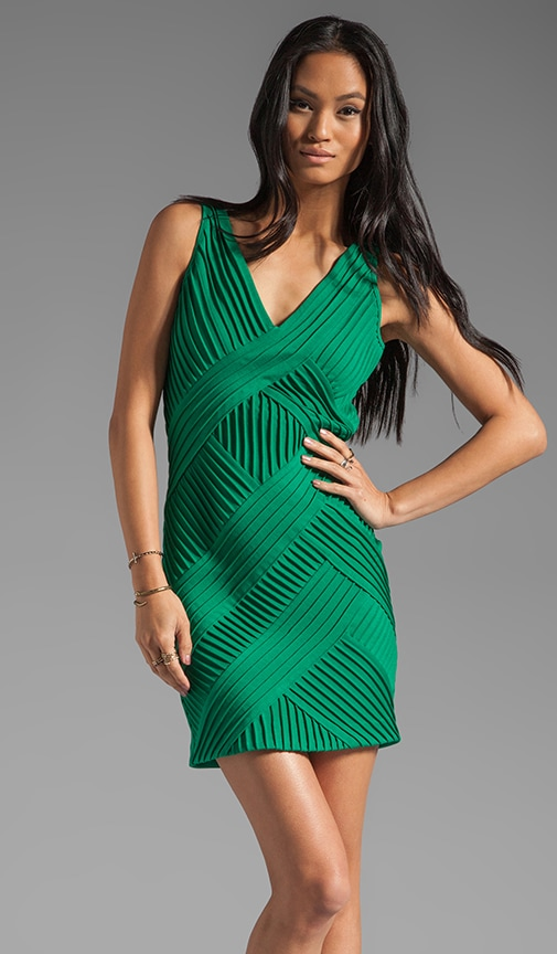 Sleeveless V Neck Dress with Criss Cross Detail