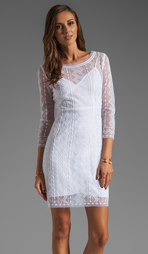 Geometric Tulle Embroidered Dress