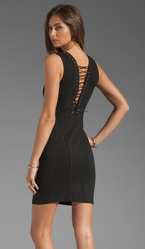 Cross Lace Back Dress