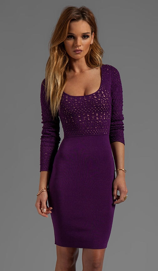 Afton Long Sleeve Pointelle Top Dress
