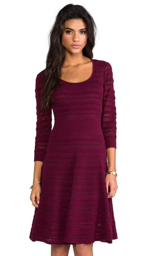 Assunta Long Sleeve Fit and Flare Dress