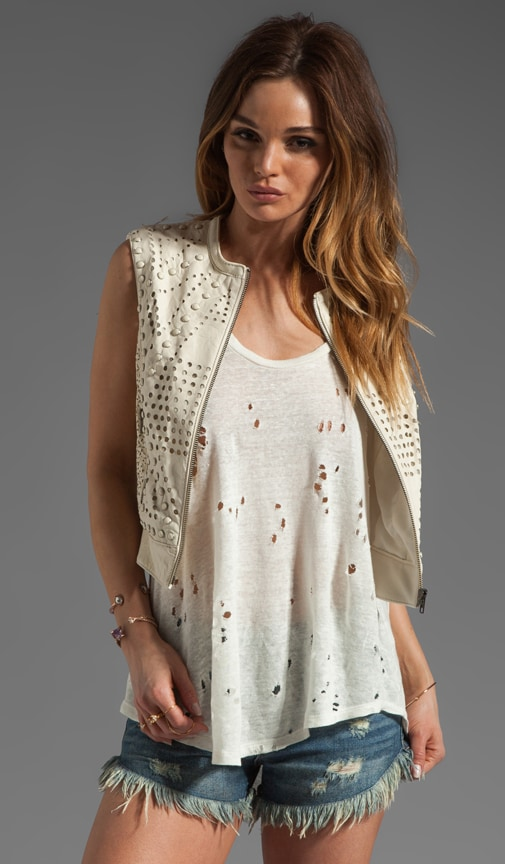 Perforated Leather Vest