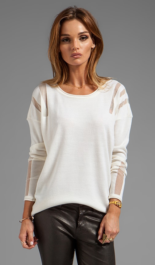 Aviva Long Sleeve Pointelle Top