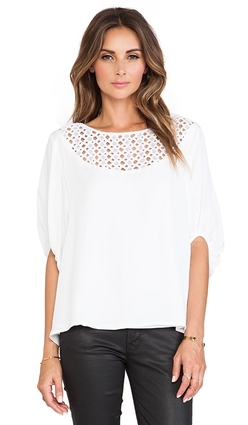 Galena Drop Shoulder Oversized Silk Blouse