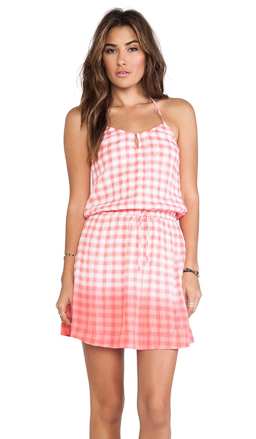 Dip Dye Gingham Dress