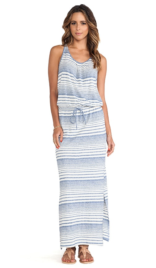 Variegated Striped Maxi Dress
