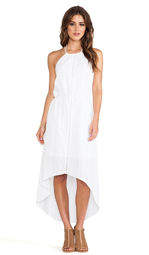 Asymmetric Hem Halter Dress