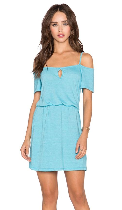 C&C California Off The Shoulder Dress in Maui Blue