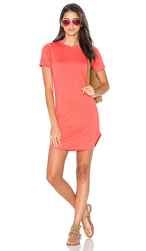 C&C California Adelise Shirt Dress in Coral