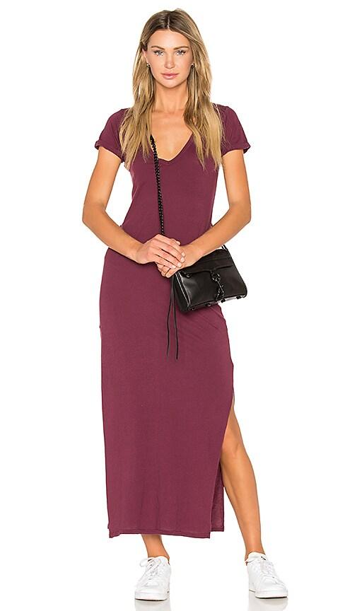 C&C California Tracy Maxi Dress in Burgundy