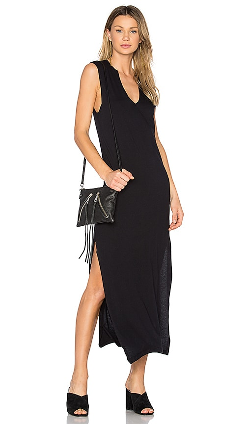 C&C California Dawna Slit Maxi Dress in Black