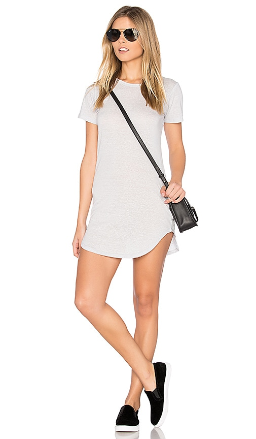 C&C California Adelise T Shirt Dress in Gray