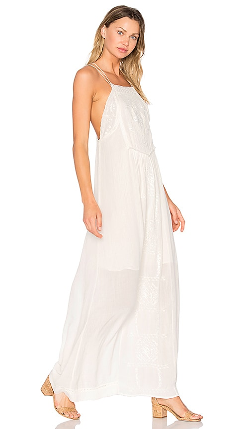 C&C California Odysseia Strappy Maxi Dress in White
