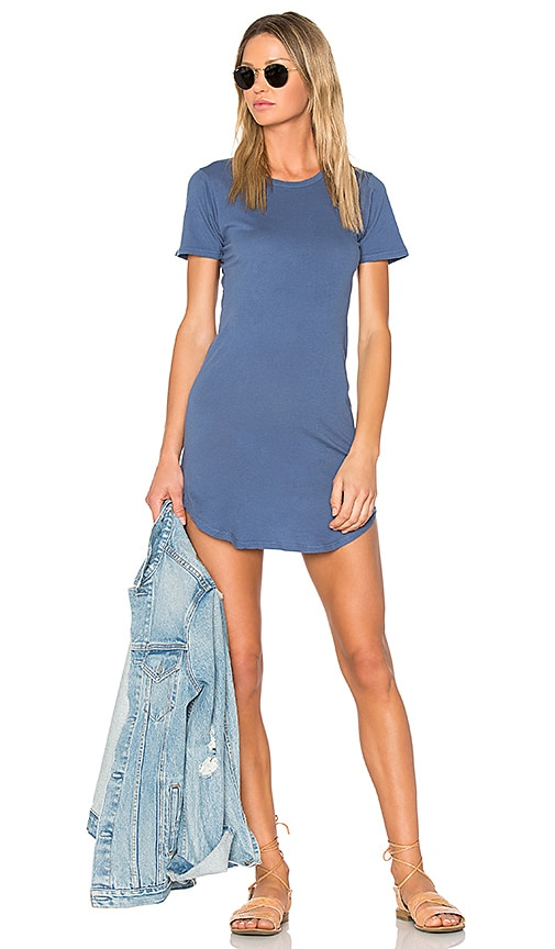 C&C California Adelise T Shirt Dress in Blue