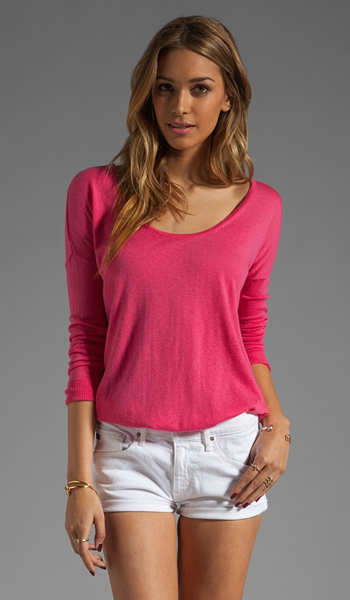 Long Sleeve Dolman Shirt Tail Sweater