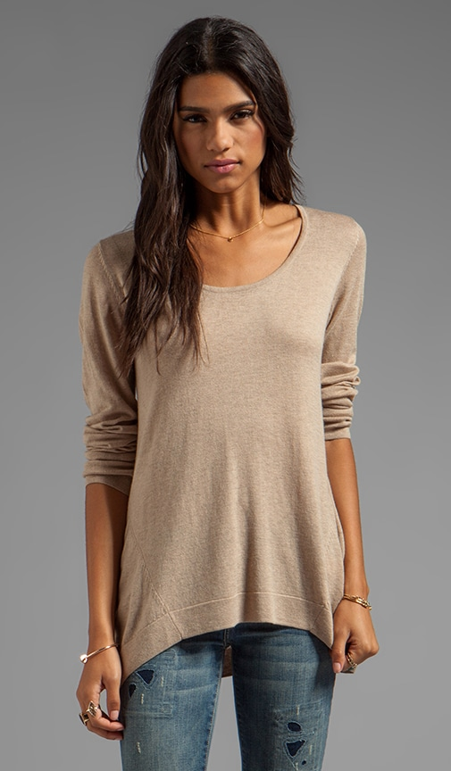 Solid Cashmere Blend Sweater