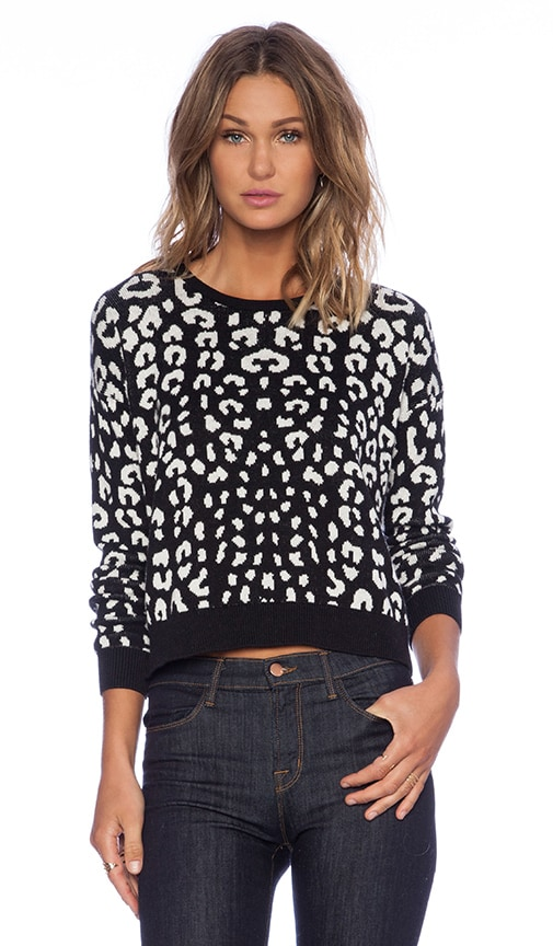 Leopard Jacquard Crop Sweater