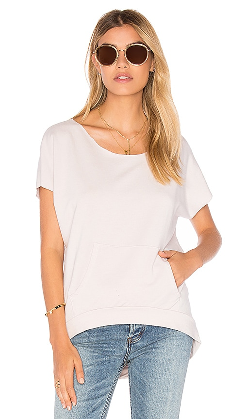 C&C California Monica Short Sleeve Pullover in Blush