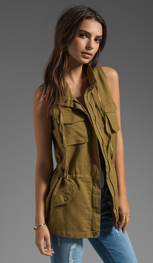Linen Cotton Safari Vest