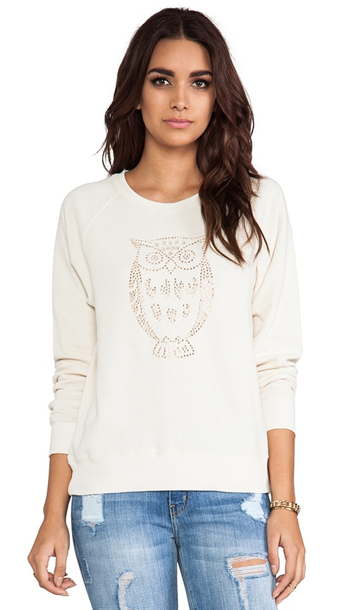 Heat Seal Crepe French Terry Embellished Sweatshirt