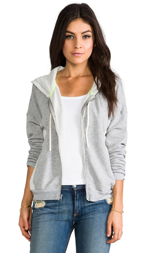 Drop Shoulder Zip Up Hoodie
