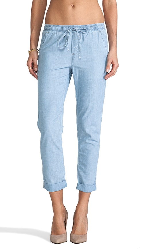 Chambray Cropped Pant