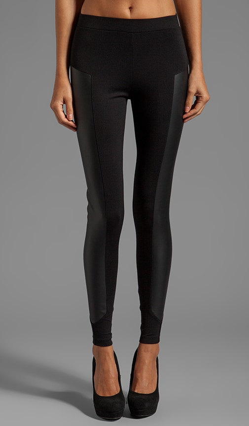 x Stephanie Ponte Legging With Leather Panel