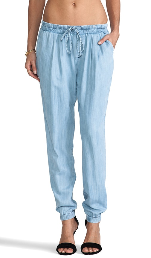Textured Chambray Pants