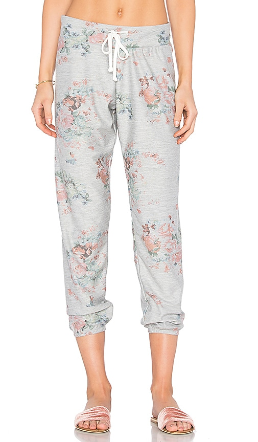 C&C California Kelly Slouchy Sweatpant in Gray