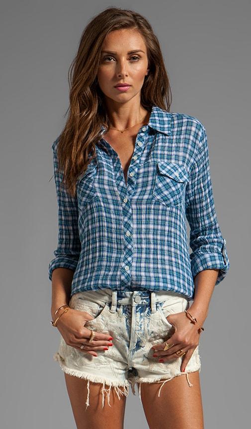 Mini Multi Crinkle Plaid Shirt