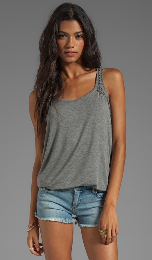 Stretch Rayon Jersey with Roping Tank