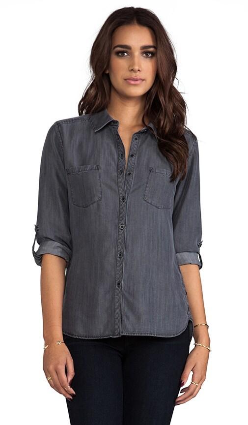 Textured Chambray Two Pocket Shirt