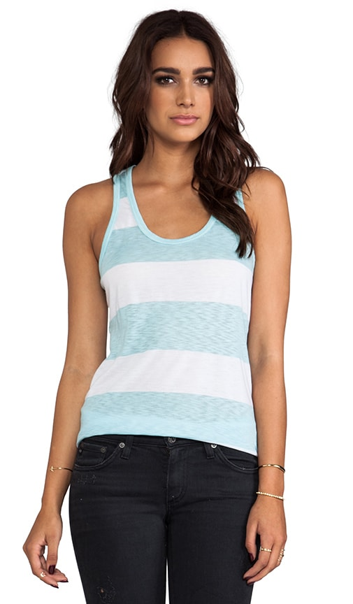 Stripe Scoop Neck Tank