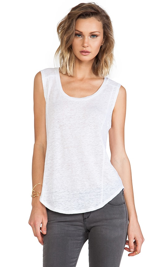 Seamed Sleeveless Tee