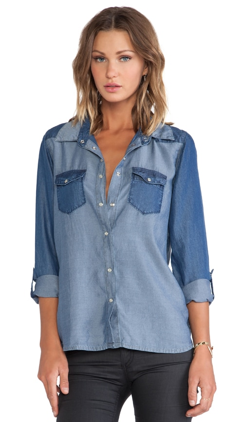 Two Tone Chambray Shirt