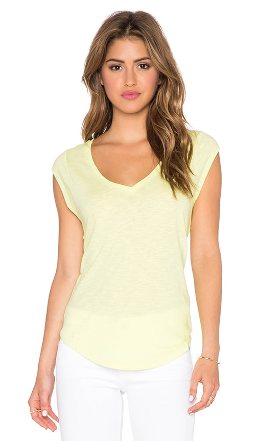 C&C California Muscle Tee in Sunny Lime