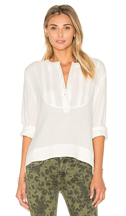 C&C California Carly Blouse in White