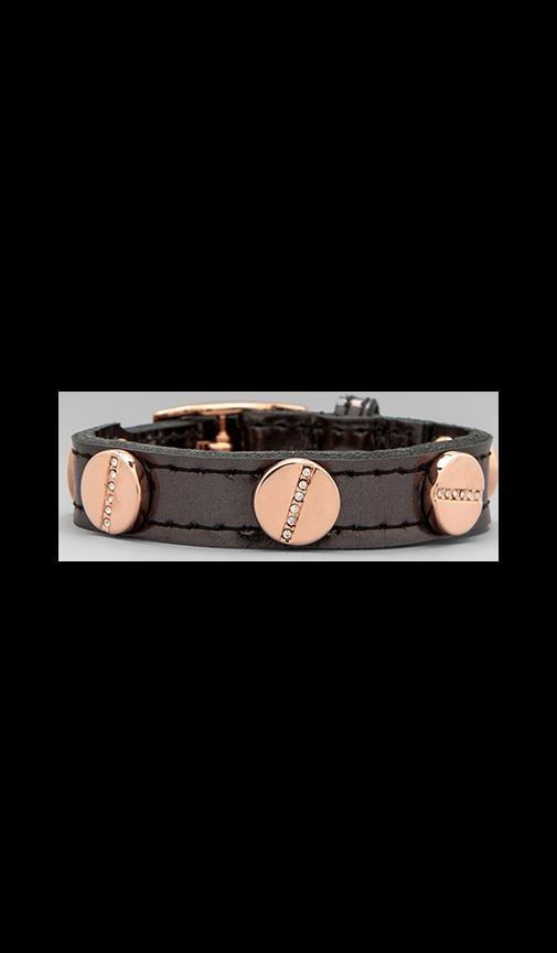 The Single Wrap Pave Screw Bracelet