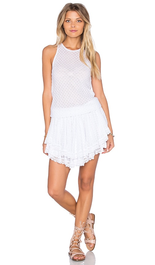 Cecilia Prado Lucia Tiered Crochet Mini Dress in White